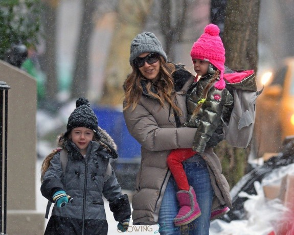 Sarah Jessica Parker does the school run with daughters Marion & Tabitha