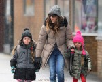 Sarah Jessica Parker does the school run with daughters Marion and Tabitha in NYC