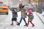 Sarah Jessica Parker does the school run with daughters Marion and Tabitha in New York City