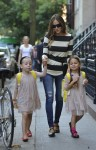 Sarah Jessica Parker does the school run with her twins Marion & Tabitha