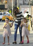 Sarah Jessica Parker does the school run with her twins Marion and Tabitha