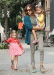 Sarah Jessica Parker walks her girls Marion & Tabitha to school