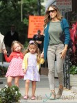 Sarah Jessica Parker walks her girls Marion and Tabitha to school