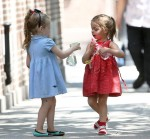 The Broderick Twins Play With Spray Bottles Filled With Water