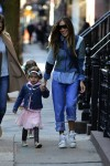 Sarah Jessica parker does the school run with daughter Tabitha & Loretta
