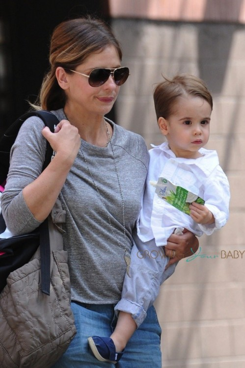 Sarah Michelle Gellar out with  son Rocco in LA