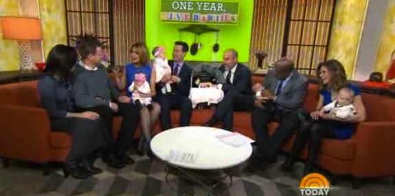 Sarah and Andy Justice with their twins and triplets on the TODAY show
