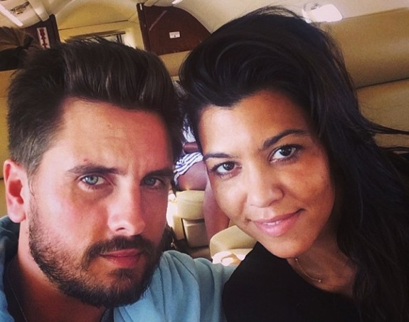 Scott Disick and Kourtney Kardashian on their way to Cabo