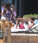 Scott Disick and Kourtney Kardashian with their kids Penelope and Mason in Cabo