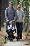 Scott Stuber and Molly Sims stroll to the park with son Brooks in LA
