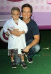 Scott Wolfe with son Jackson at Doc McStuffins event in LA
