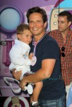 Scott Wolfe with son Jackson at Doc McStuffins event in LA