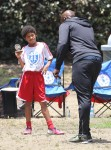 Heidi Klum & Seal Watch Their Kids Soccer Game