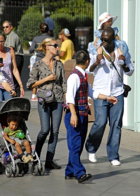Seal and Heidi Klum take their children to Disneyland