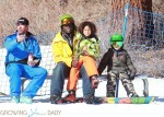 Seal and his kids Leni and Henry hang out at Mammoth Mountain Ski Resort
