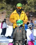 Seal with daughter Leni at Mammoth Mountain Ski Resort