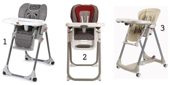 1. Chicco Polly Double Phase High Chair 2. Graco 4-in-1 Convertible High Chair 3. Peg-Perego Prima Pappa Best High Chair