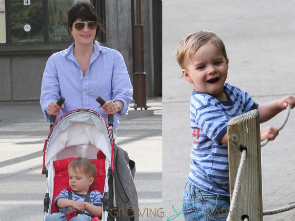 Selma Blair and son Arthur Bleick at the LA Zoo