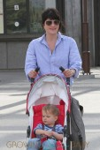 Selma Blair and her son Arthur enjoy a fun day out at the L