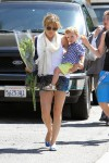 Selma Blair and Son Go to the Farmer's Market