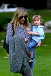 Selma Blair with her son Arthur at the park
