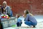 Selma Blair with her son Arthur at the park