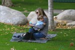 Selma Blair with her son Arthur at the park in LA