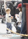 Selma Blair with son Arthur at the Market
