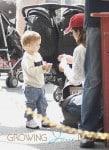 Selma Blair with son Arthur at the Market