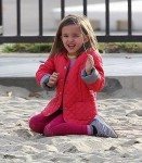 Seraphina Affleck at the park