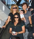Shakira And Her Son Departing On A Flight At LAX