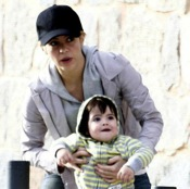 Shakira & Milan Step out in Barcelona