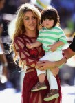 Shakira at FIFA 2014 World Cup Finale with son MIlan