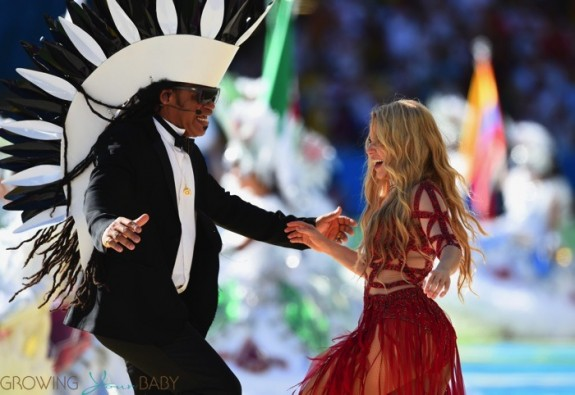 Shakira performs at FIFA 2014 World Cup Finale