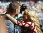 Shakira with husband Gerard Pique @ FIFA 2014 World Cup Finale with son MIlan