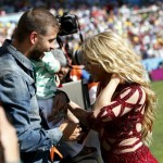 Shakira with husband Gerard Pique @ FIFA 2014 World Cup Finale with son MIlan t