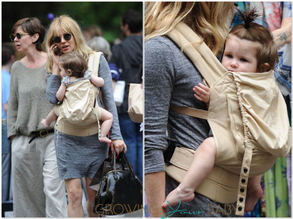 Sienna Miller shops in New York City With daughter Marlowe