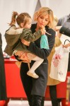 Sienna Miller takes her daughter Marlowe for a day of fun at FAO Schwarz in New York City