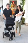 Simon Cowell & Lauren Silverman have lunch with little Eric at The Ivy