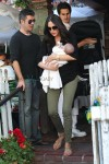 Simon Cowell & Lauren Silverman have lunch with little Eric at The Ivy in LA