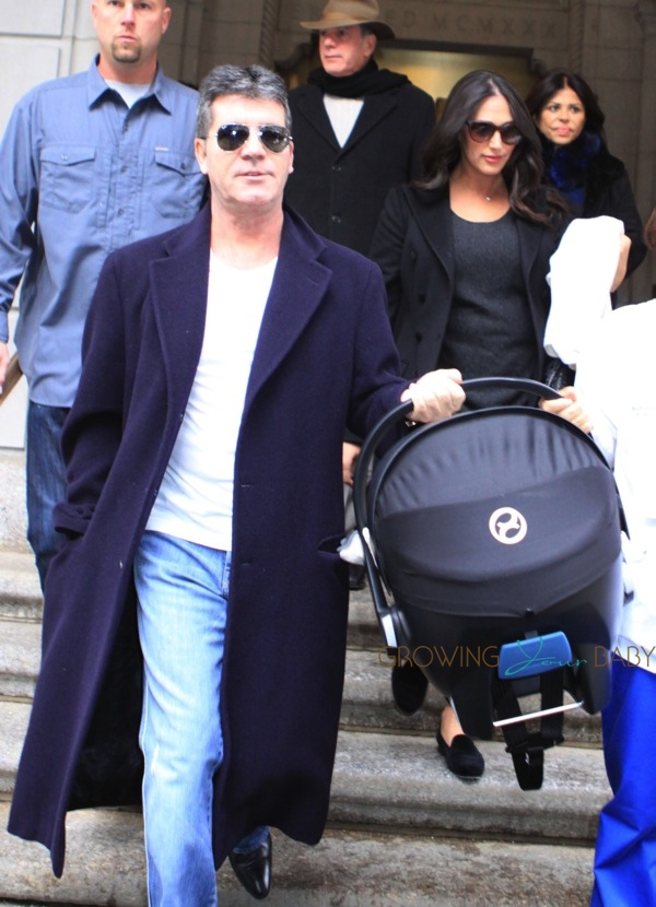 Simon Cowell Amp Lauren Silverman With Son Eric Cowell
