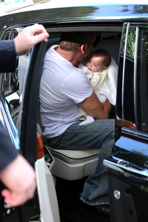 Simon Cowell and Baby Eric do lunch at The Ivy