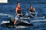Simon Cowell and Lauren Silverman jet ski in St. Tropez