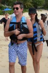 Simon Cowell and Lauren Silverman on Vacation in Barbados