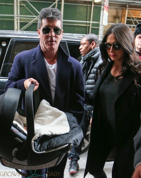 Simon Cowell and Lauren Silverman with son Eric Cowell
