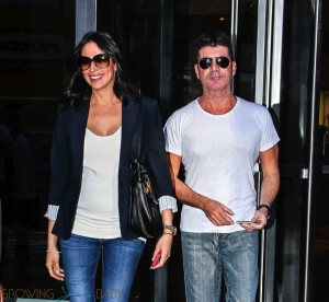 Simon Cowell and pregnant girlfriend Lauren Silverman