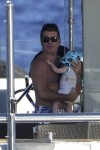 Simon Cowell with son Eric in Sardina