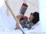 Simon Cowell's girlfriend Lauren Silverman with baby Eric in Miami