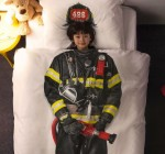 Snurk children's firefighter bedding