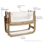SnuzPod's 3 in 1 Bedside Crib - features